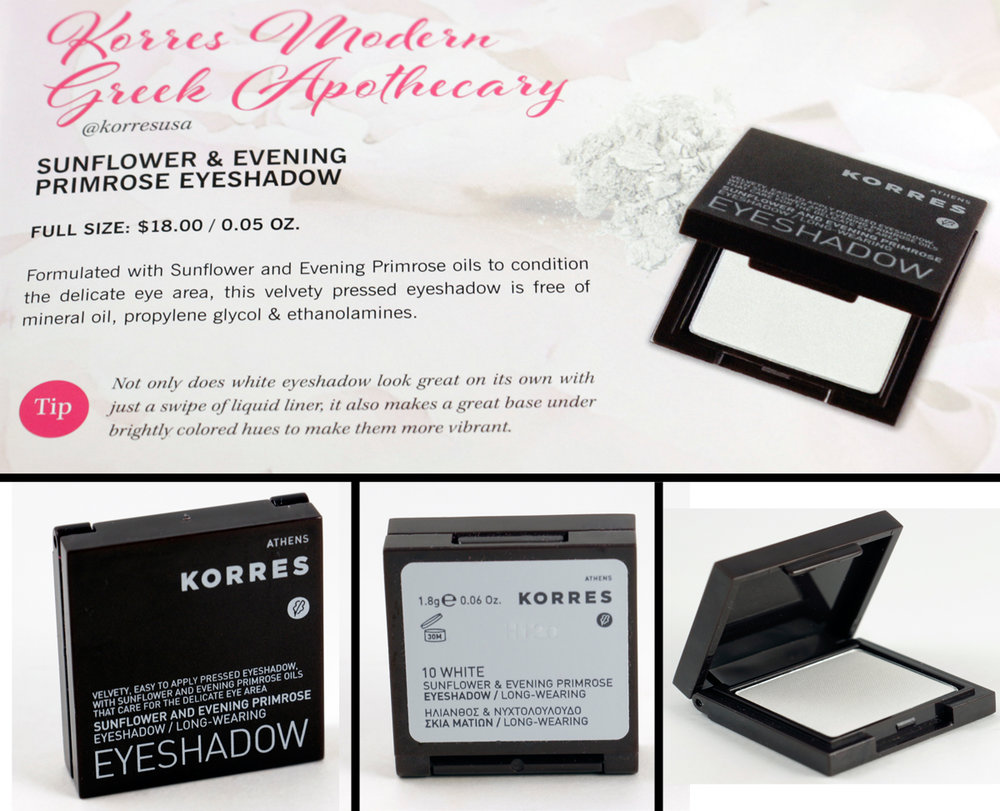 KORRES Modern Greek Apothecary  Sunflower & Evening Primrose Eyeshadow - 10 White