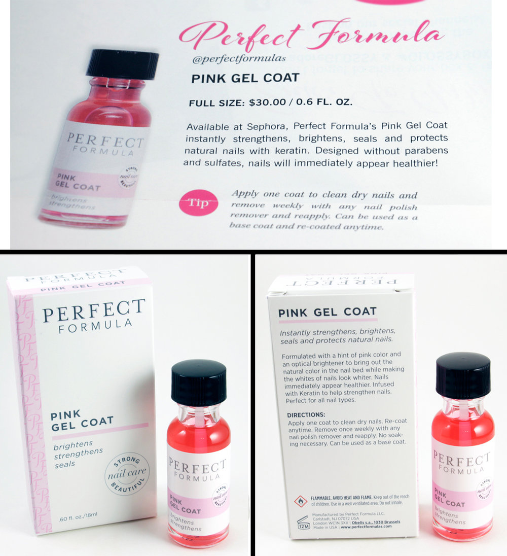 Perfect Formula      Pink Gel Coat    Made in USA