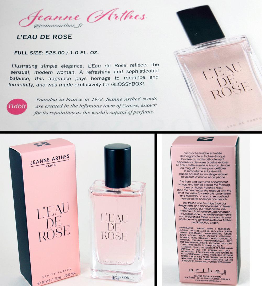 Jeanne Arthes Paris  L'eau De Rose - Eau De Parfum