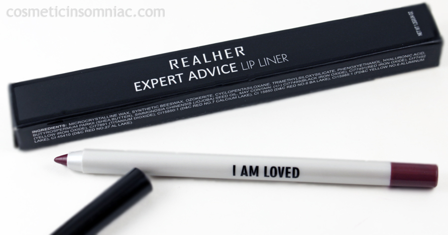 RealHer - Expert Advice Lip Liner - I Am Loved 1.2g / 0.04 oz.  $12.50 USD