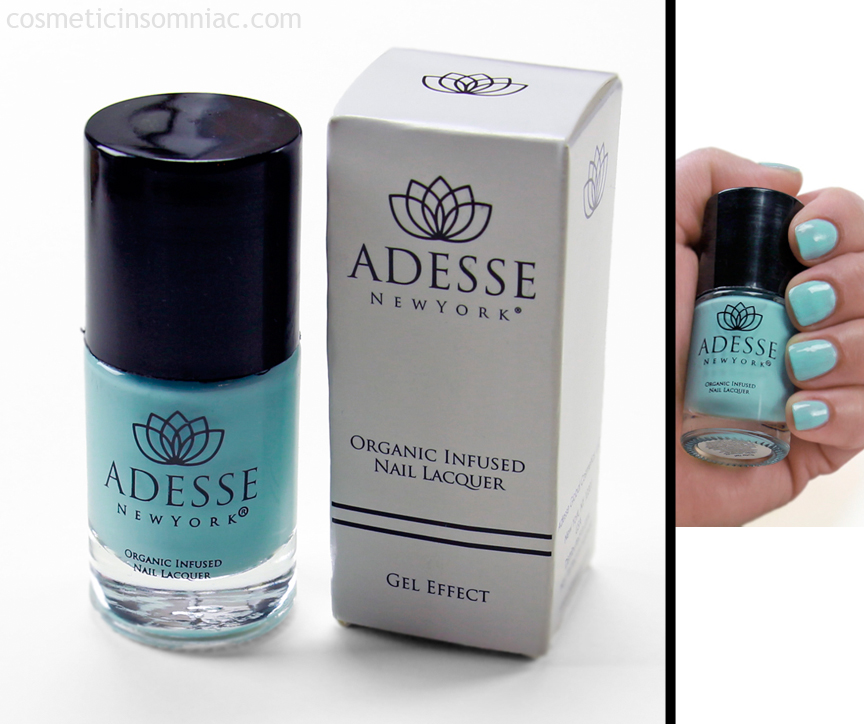 ADESSE New York  Organic Infused Nail Lacquer - Surfer Girl  $18.00 USD  Website states Made in NY.