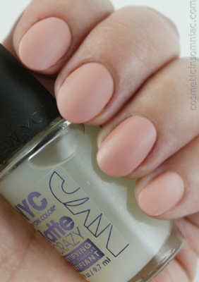 Sally Hansen Color Therapy - 190 Blushed Petal - with matte top coat   NYC New York Color - Matte Crazy