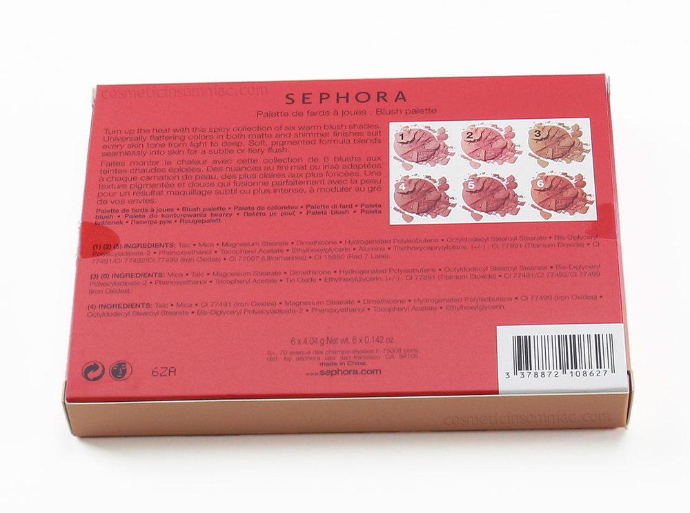 Sephora Collection      Contour Blush Palette     Ingredients