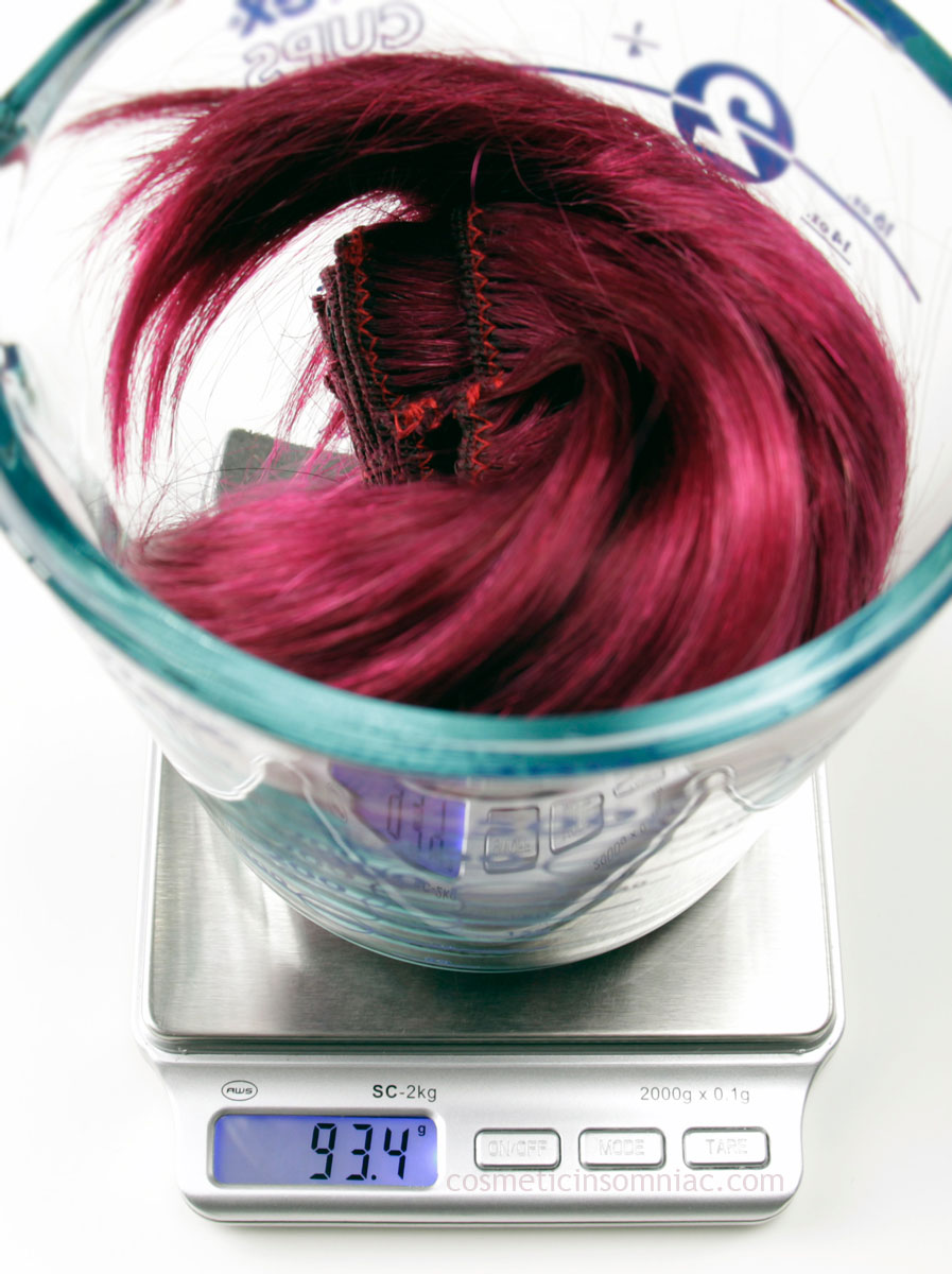 """14"""" Burgundy Clip In Hair from canadahair.ca  Total weight of set #2  (including clips)"""
