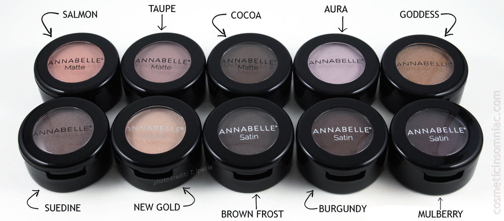ANNABELLE Cosmetics Single Eyeshadows  Made in Canada  (click to enlarge)