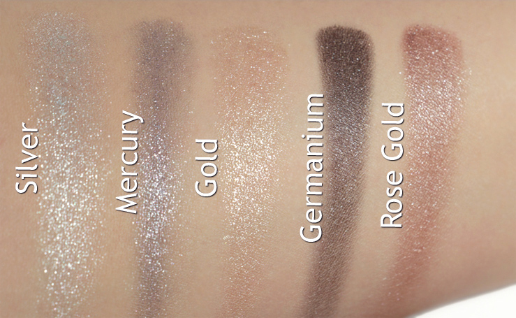 ANNABELLE Cosmetics  Chrome Single Eyeshadow  Swatches taken in fluorescent lighting