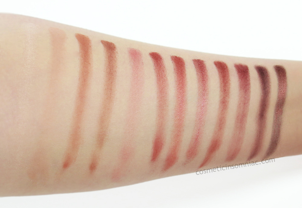 Urban Decay - Naked Heat Palette    Brush swatches taken under 5000k fluorescent lighting
