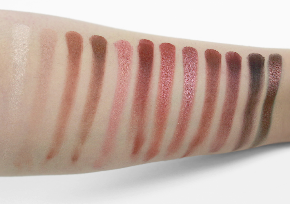 Urban Decay - Naked Heat Palette    Finger swatches taken under 5000k fluorescent lighting