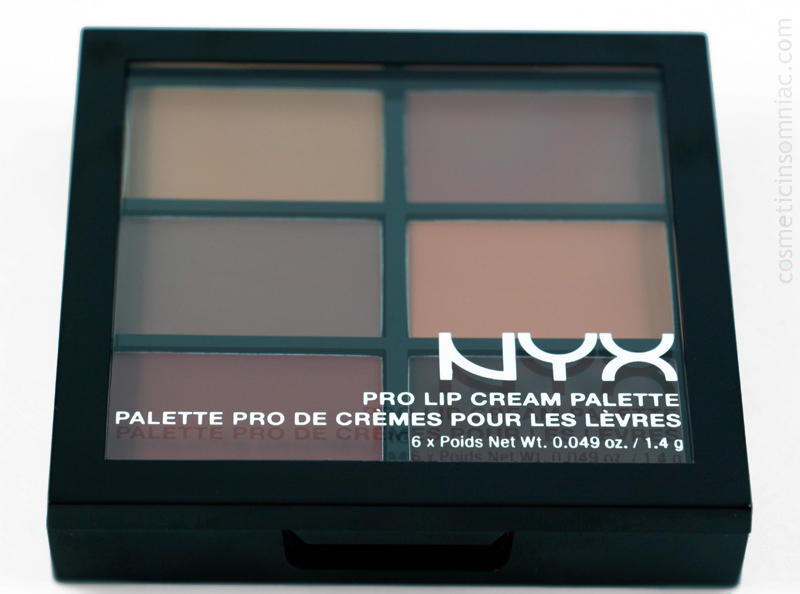 NYX Cosmetics  Pro Lip Cream Palette - PLCP02 The Nudes  $17.00 CAD  Made in Taiwan