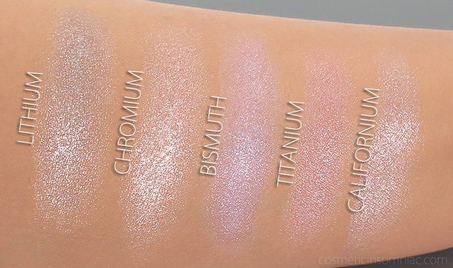 ANNABELLE CHROME SINGLE EYESHADOW   SWATCHES