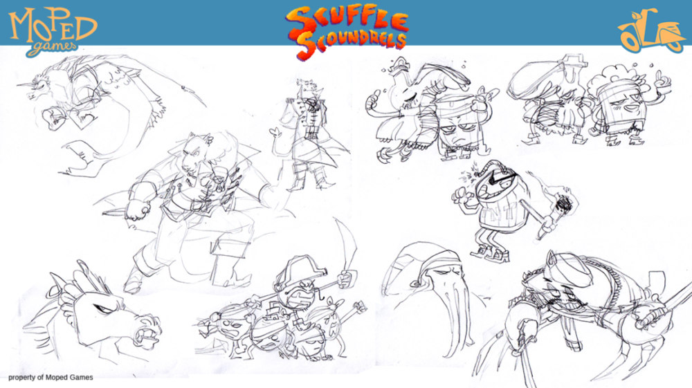 Early development of Captain and crew.