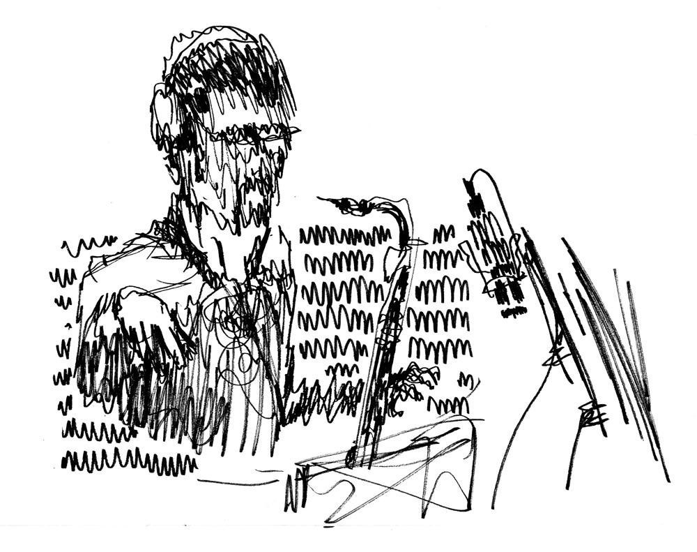 Sylvain Riflet en enregistrement