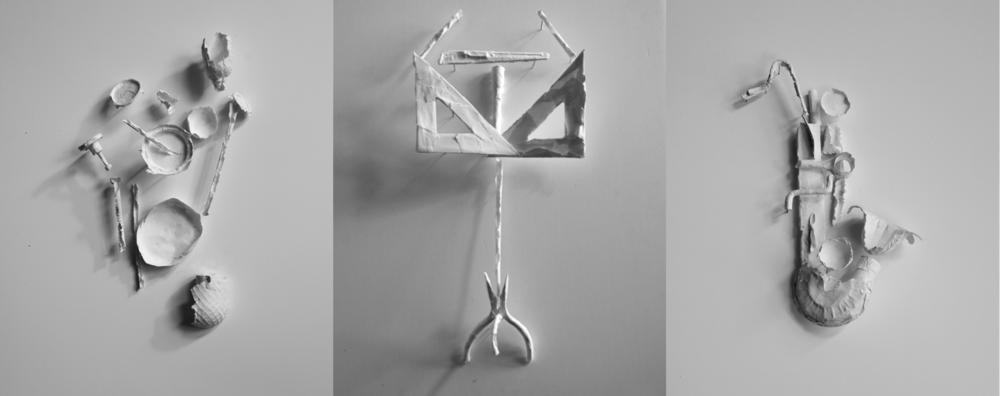 Ce visuel pour le vibraphoniste Benoit Lavollée est composé de tubes de métal pour évoquer le son de l'instrument.