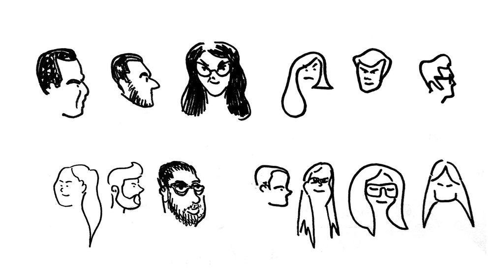 Sketches des étudiants lors de leurs restitutions
