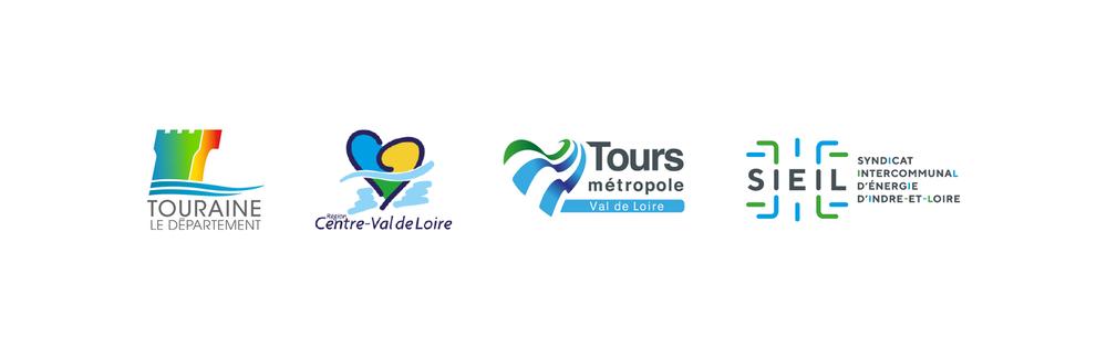 Le nouveau logo aux côtés des acteurs territoriaux locaux