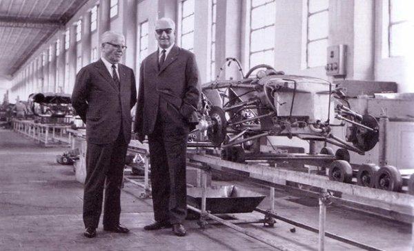 Pinin Farina et Enzo Ferrari