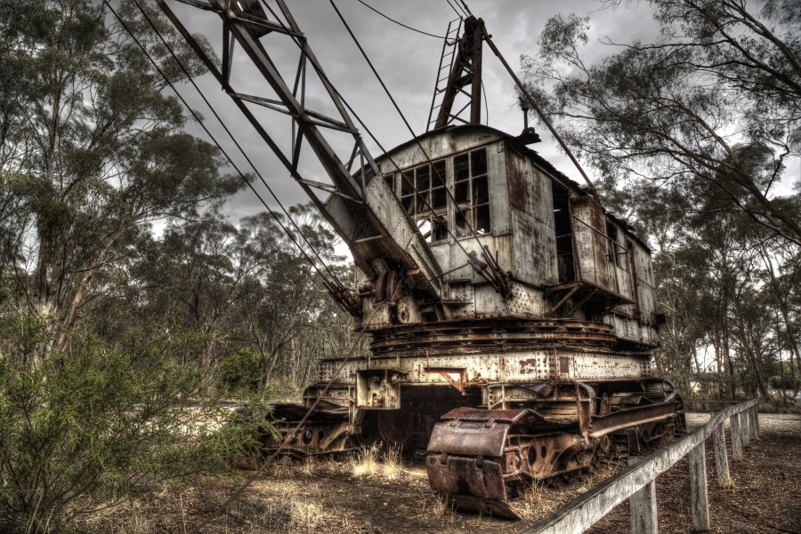 The  Maldon Dredge and Dragline  is a short drive from The Eaglehawk. It represents an era of gold mining in Maldon when large scale reworking of earlier deposits which had first been worked by thousands of individual prospectors in the rush of the 1850s. Click the image above for more information.