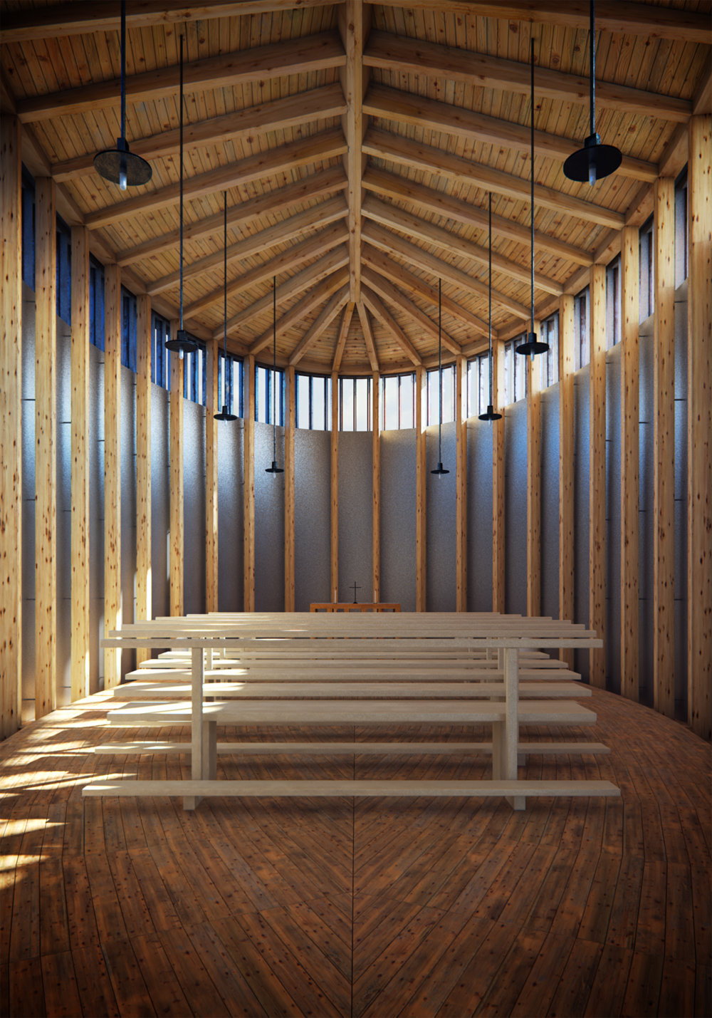 BRUDER KLAUS FIELD CHAPEL INTERIOR, GERMANY