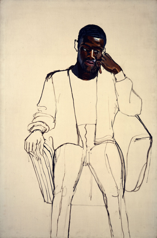 James Hunter Black Draftee,  ALICE NEEL 1965