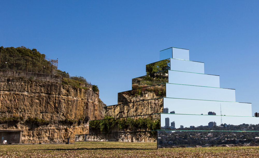 Mirrored Ziggurat by  Shirin Abedinirad