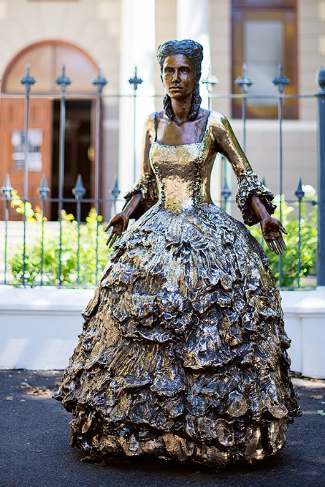 "'''Lady in her Reflective Dress: Stellenbosch Sumptuary: 1755""  Limited Edition of Eight in Bronze  Dimensions: 167cm"