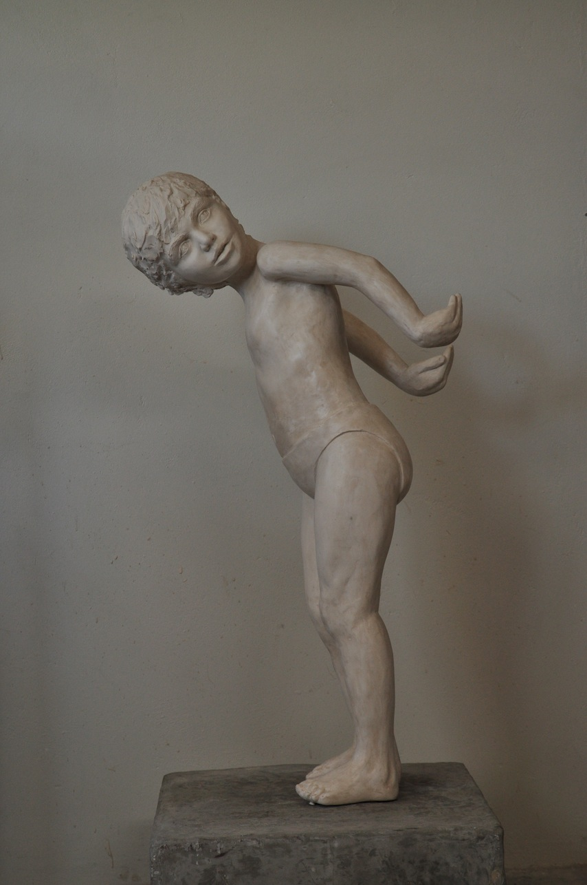 'Samuel in flight' Limited Edition Eight in Marble Resin  Dimensions: 90cm tall