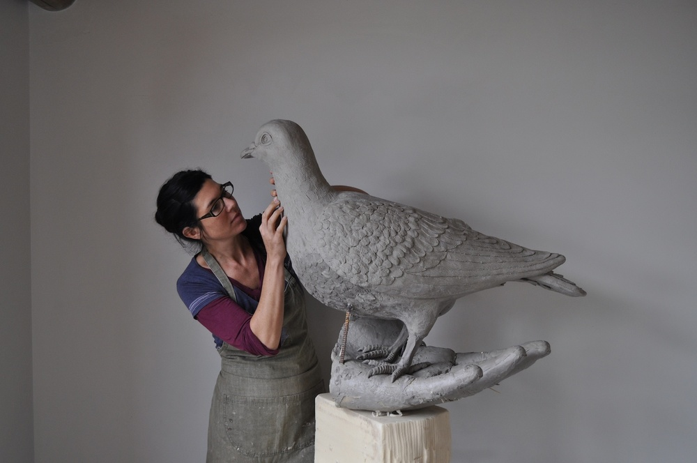 'The Homing Pigeons'  Limited Edition of Eight in Bronze  Dimensions: 100cm tall