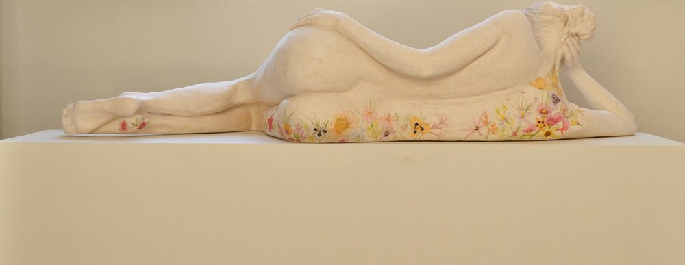 Reclining Nudes: Heathland, Sterling and Swift  Limited edition of Eight: Unique pieces  Dimensions: 168cm long