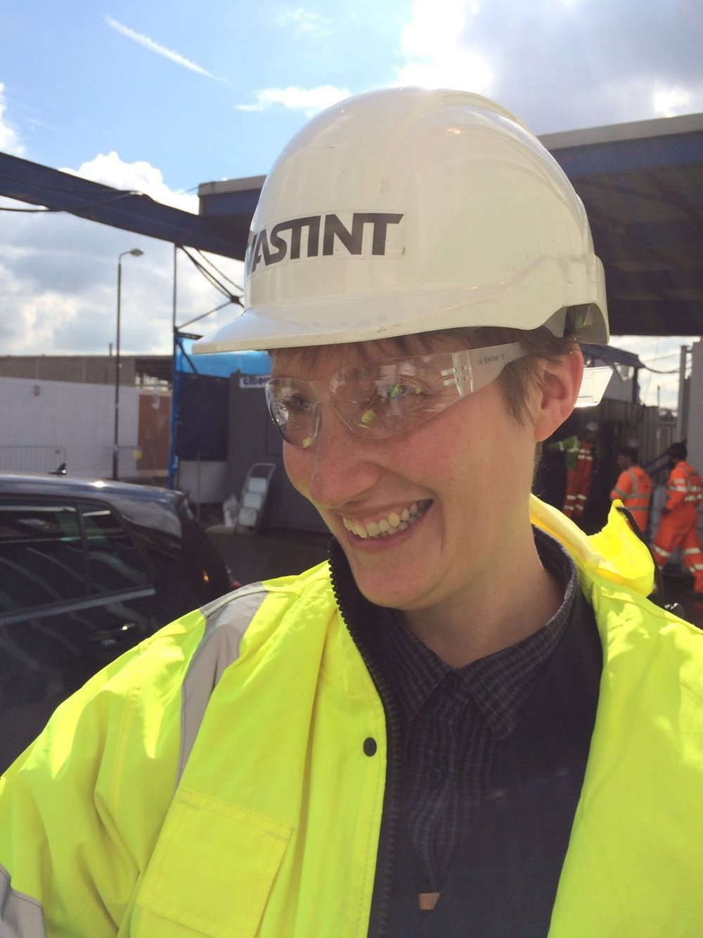 Rosie on site