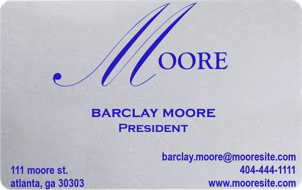 Metallic Silver Business Card