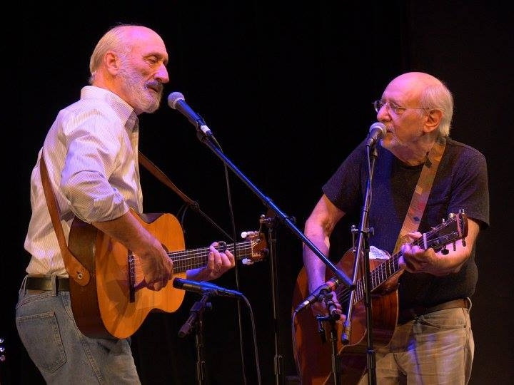 Noel Paul Stookey and Peter Yarrow perform in  Music for Changing Times