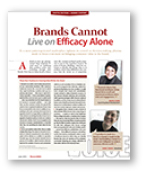 Brands can not live on efficacy alone