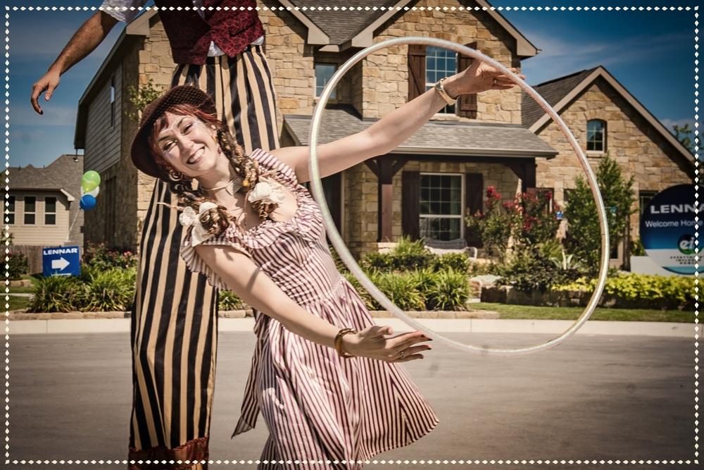 hire hula hoop dancer entertainment TX