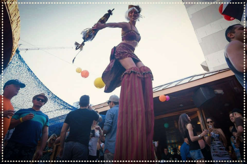 hire carnival stiltwalker Austin, TX