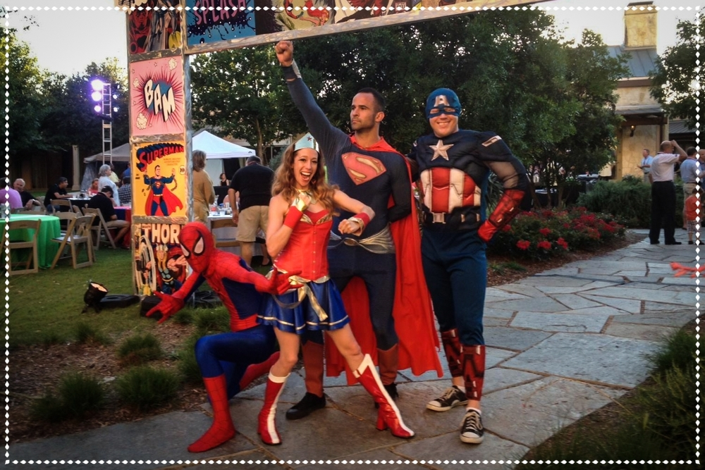 Hire superheroes for birthday parties TX