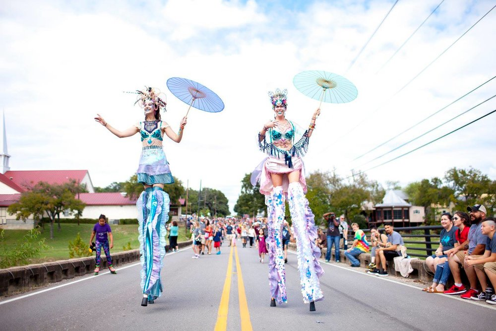 Magical Mermaid Parade in Salado, Texas