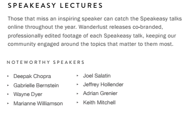 Speakeasy Lecture Series Screenshot