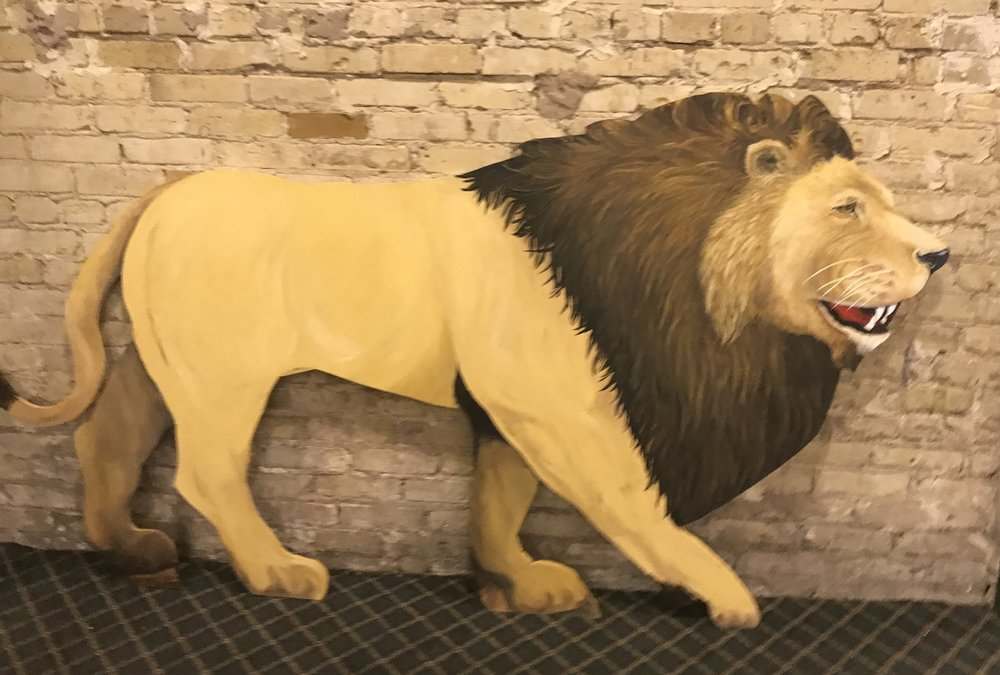 Hand Painted Life size Circus Lion Decor- 8' X 4'
