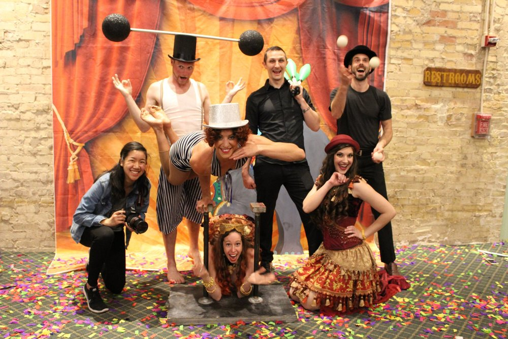 CIRCUS PICNIC performers pausing for a photo op.  Photo cred: www.soliveinc.org