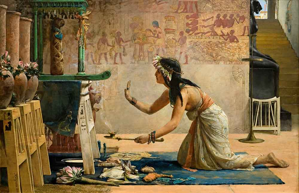 "John Weguelin, ""The Obsequies of an Egyptian Cat,"" (1886)"