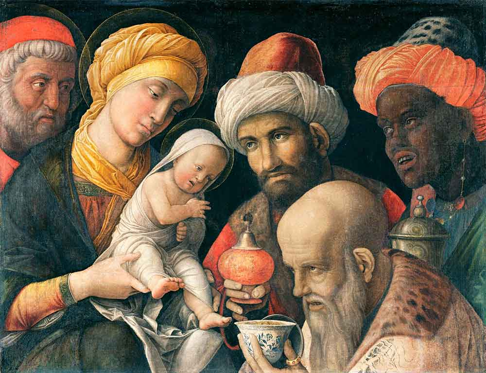 "Andrea Mantegna, ""Adoration of the Magi"" (1398)"