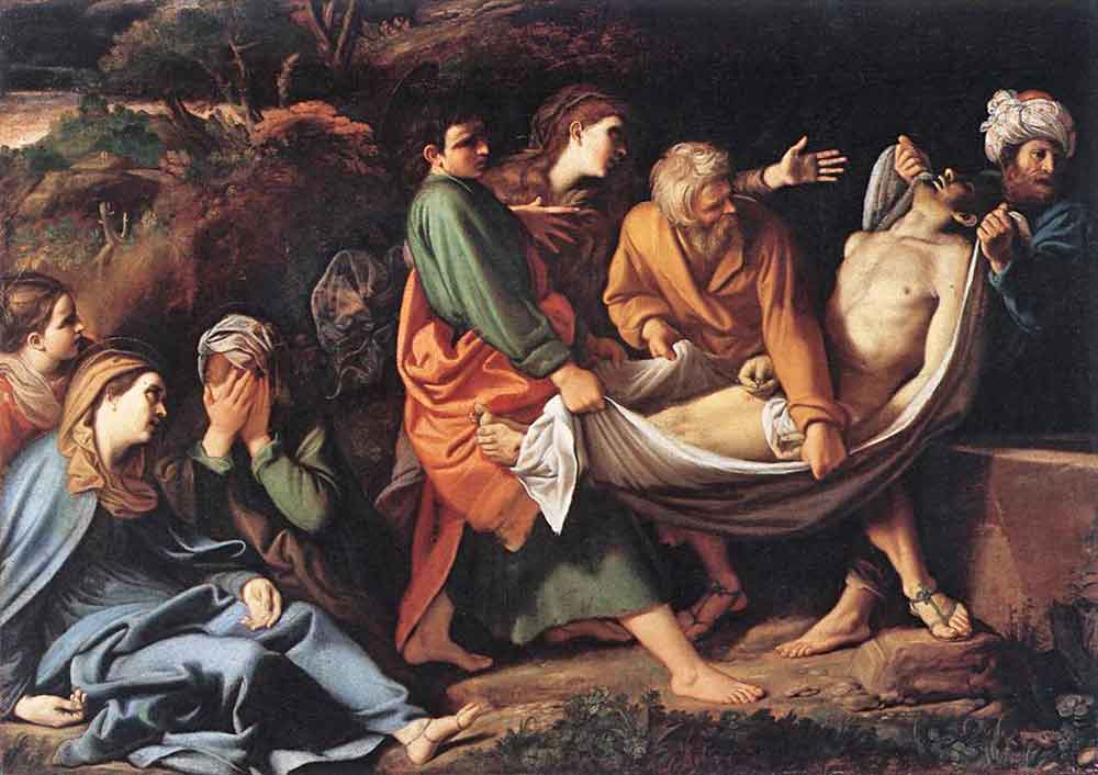 "Sisto Badalocchio Rosa, ""The Entombment of Christ,""1610"