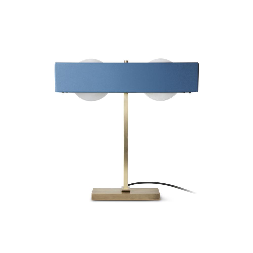 Kernel table lamp brass matte blue bert frank for Table 6a of gstr 1