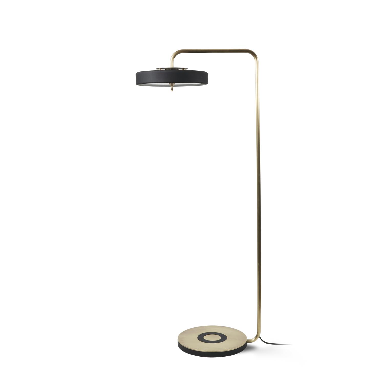 Revolve floor lamp brass matte black bert frank revolve floor lamp brass matte black mozeypictures Gallery
