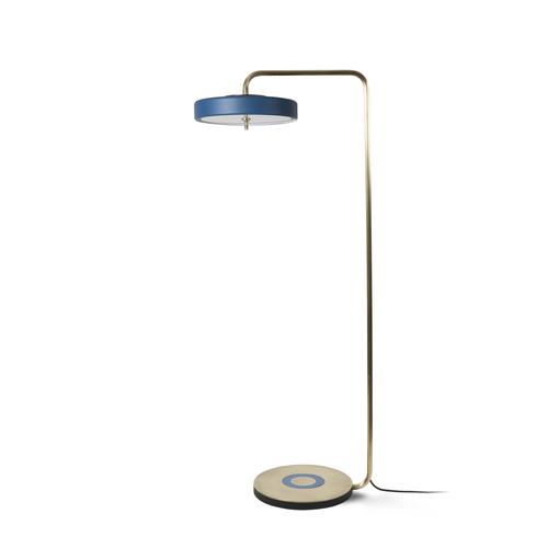 Revolve floor lamp brass matte blue bert frank revolve floor lamp brass matte blue aloadofball Images