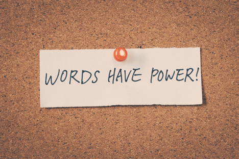 """Tagline for my copywriting services - """"Words have Power!"""""""