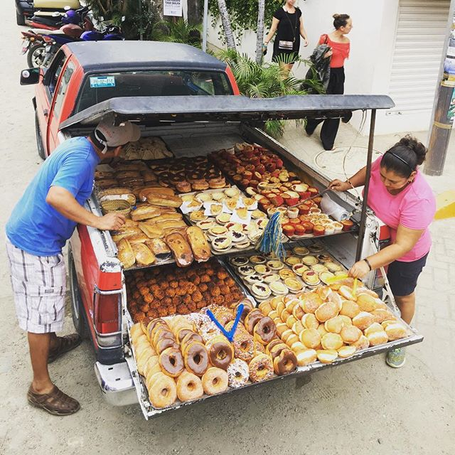 Screw the Ice Cream Man, I'll take the Donut Flatbed every day of the year. #sayulita