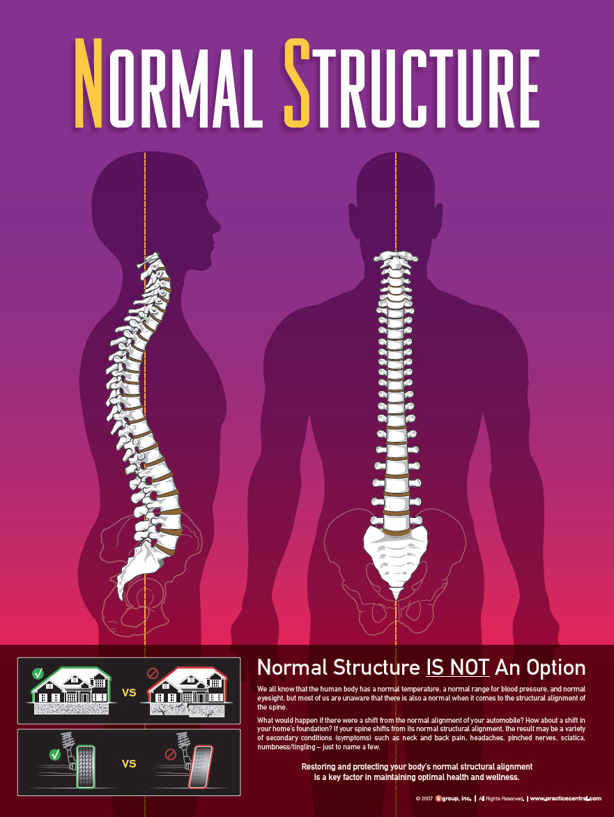Normal structural alignment is  Not Optional   when it comes to dealing with low back pain, neck pain, as well as a host of other secondary conditions.