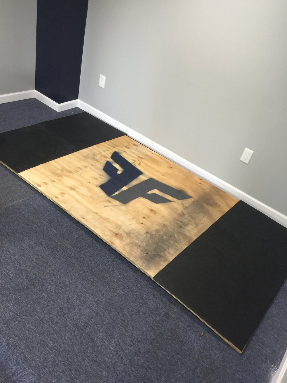 Indiana PA Gym equipment that we have includes a custom deadlifting platform.