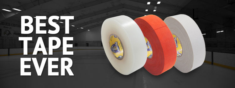 Imagine playing every night, all week long on your favorite outdoor rink and never having to re-tape.  That's the concept behind our premium white cloth hockey tape.  Boasting 68 strands per inch, our cloth stick tape has the absolute highest thread count.  Add a generous helping of sticky adhesive and you have a hockey tape that will defy wear and tear for days.  It also resists snow and ice buildup to keep you on the ice and lighting the lamp.